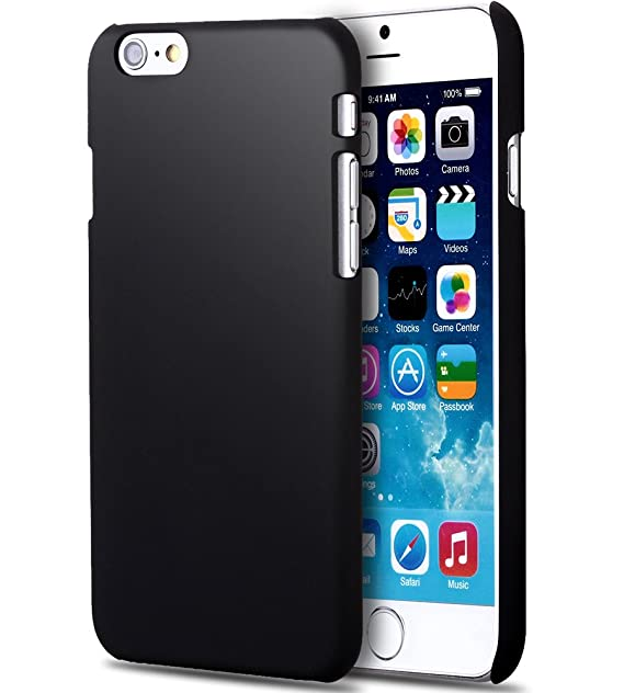 f252f99c99 Amazon.com: Noot Ultra Slim Hard Case for iPhone 6 - Black: Cell Phones &  Accessories