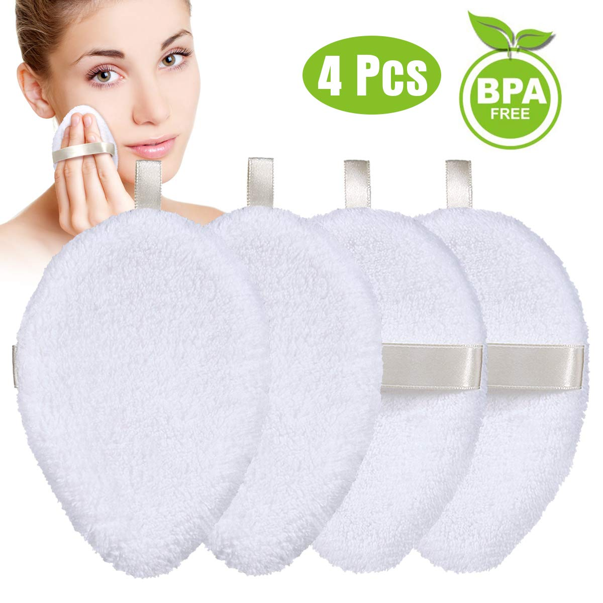4PCS Soft Bamboo Face Cleansing Pads