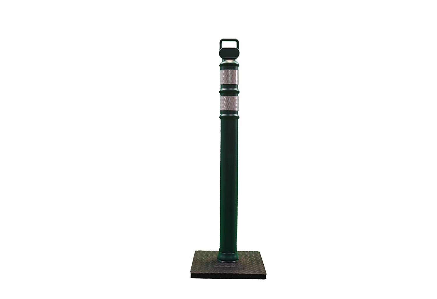 Cortina Safety Products 03-747FGRBC EG Delineator Post Flared Forest Green 2 Each 3 HI Collars with 10# Rubber Base in Box 45