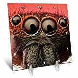 3dRose dc_23031_1 Jumping Spider Desk Clock, 6 by 6-Inch For Sale