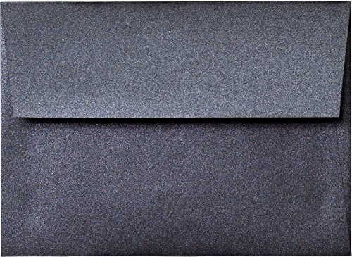 A-7 Envelope - Onyx Black Shimmery Metallic Envelope (5.25 x 7.25) - 50 Envelopes from Paper and ()