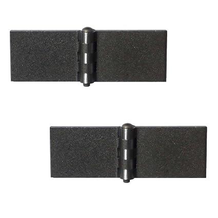 GedoTec Bisagra soldada de puerta valla cilíndricas Bandlappenstaerke 6 mm Acero blank izquierda y derecha puede