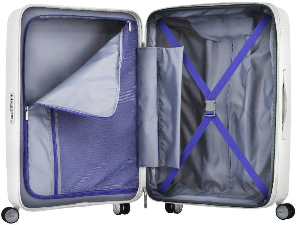American Tourister Curio Hardside Luggage with Spinner Wheels Black