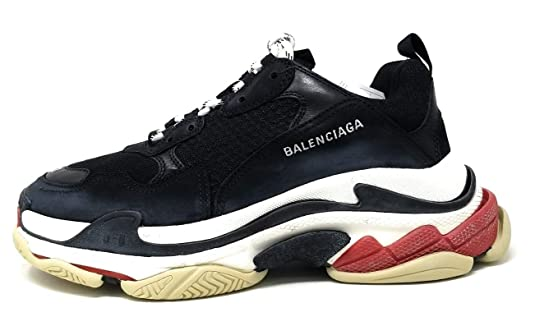 b36c8294ba Amazon.com | Balenciaga Triple S Trainers Mens Style: 533882W0901-BLACK/RED  Size: 44 | Fashion Sneakers