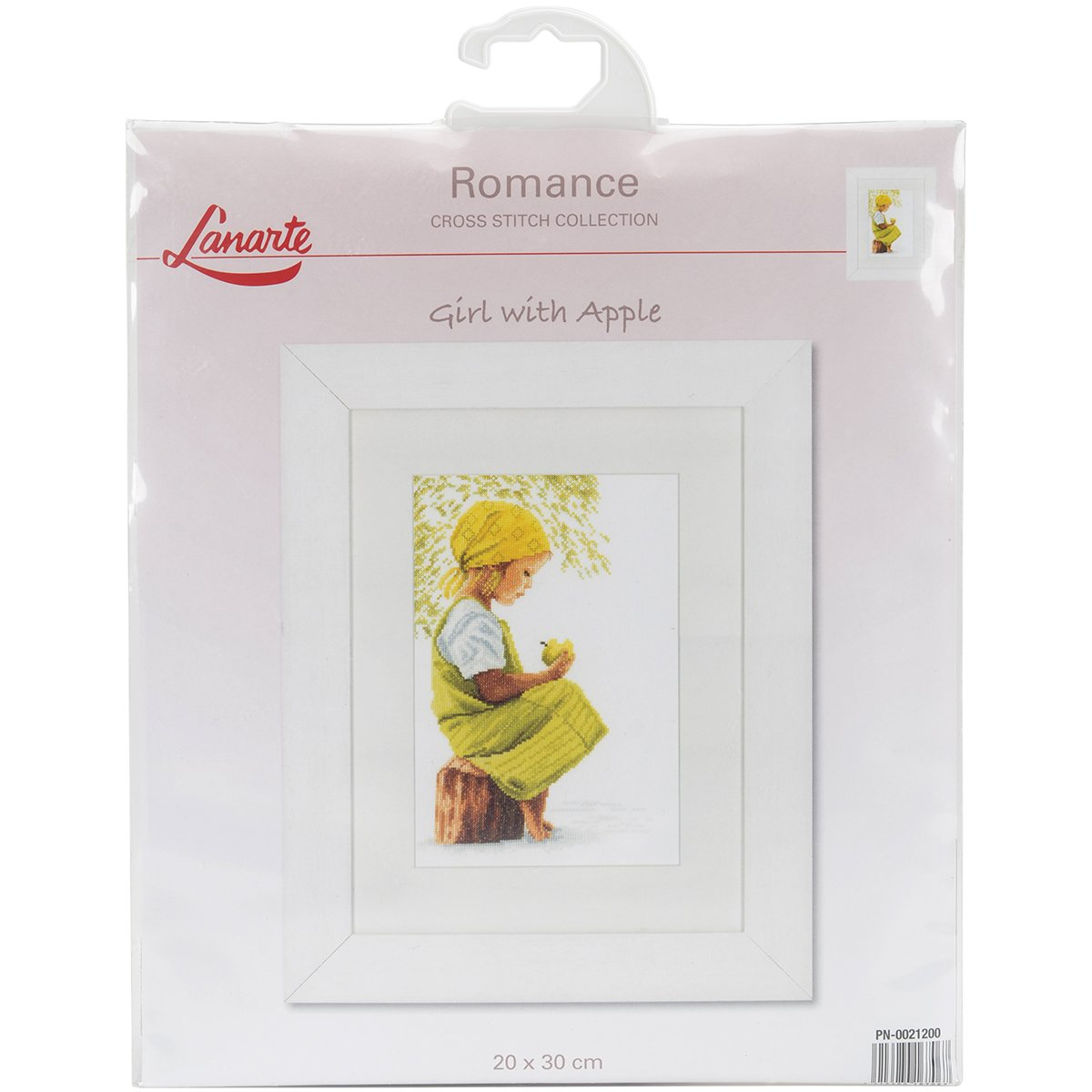 Vervaco LanArte Girl with Apple on Cotton Counted Cross Stitch Kit, 8 by 11.75 8 by 11.75 L0021200