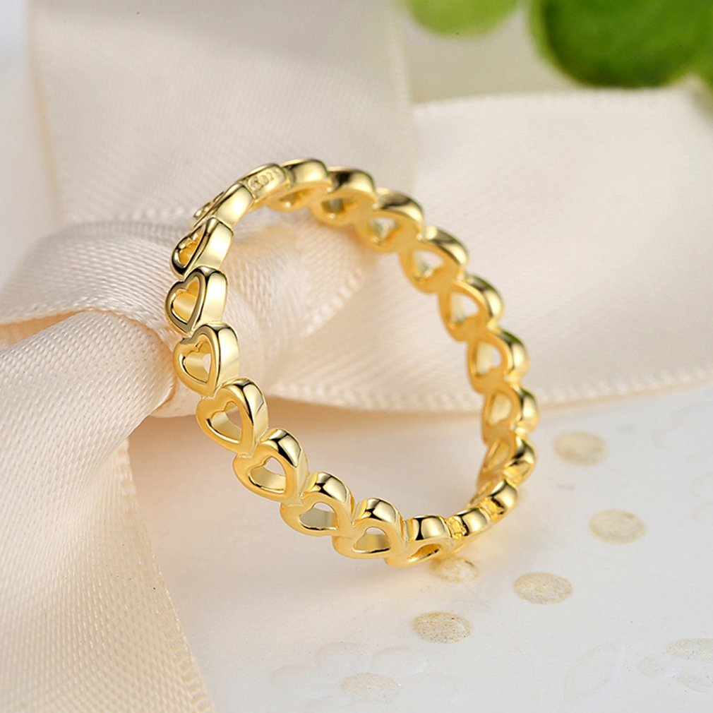 Everbling Linked Love 925 Sterling Silver Stackable Ring by Everbling (Image #5)