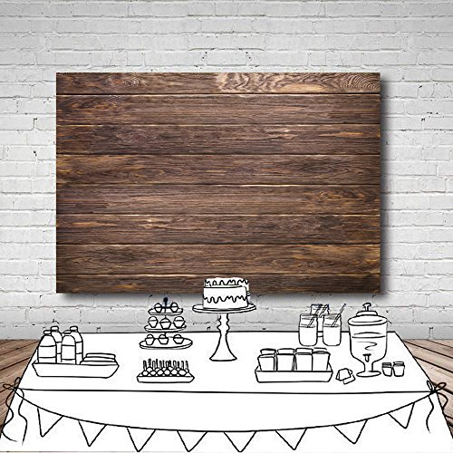 LYWYGG 7x5ft Thin Vinyl Brown Wood Backdrop Photographers Retro Wood Wall Background Cloth Seamless CP-19 by LYWYGG (Image #8)