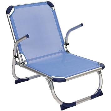 Chaise Pliante Legere En Aluminium Solide De Plage Charge Max 100 Kg