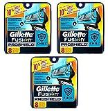 Gillette Fusion Proshield Chill Cartridges, 8 Ct (Pack of 3) + FREE Makeup Blender Sponge