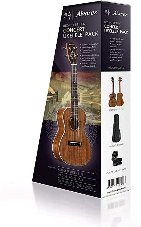 Alvarez ru90cp Pack ukelele: Amazon.es: Instrumentos musicales