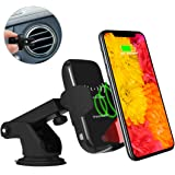 Wireless Car Charger, Youtec Fast Car Mount Charger, 10W Infrared Sensing Auto Clamping Phone Charging Pad Holder for iPhone XS/Max/XR/X/8/8 Plus, Samsung Galaxy S9/S9+,S8/S8+,Note 8 5