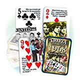 Flickback Media, Inc. 1968 Trivia Playing Cards: 51st Birthday