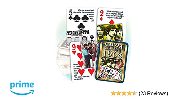 Flickback Media, Inc. 1968 Trivia Playing Cards: 51st Birthday