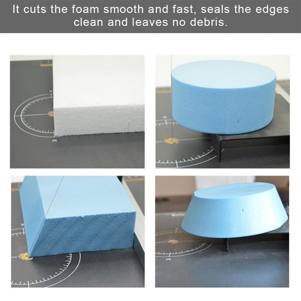 Foam Cutting Machine Hot Wire Foam Factory Crafters Wire Foam Cutter Board Wax Wire Foam Styrofoam Cutter Working Stand Table Tool Styrofoam Cutter(110V) by ZJchao (Image #6)