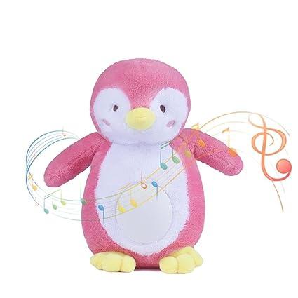 Following Juguete de Peluche Suave para bebé, con Diseño de Pingüino y luz Nocturna,