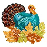 Lova Jewelry Retro Turkey Foliage Thanksgiving Fall Enameled Metal Brooch