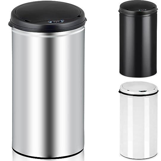 poubelle automatique capteur de mouvements litres argent. Black Bedroom Furniture Sets. Home Design Ideas