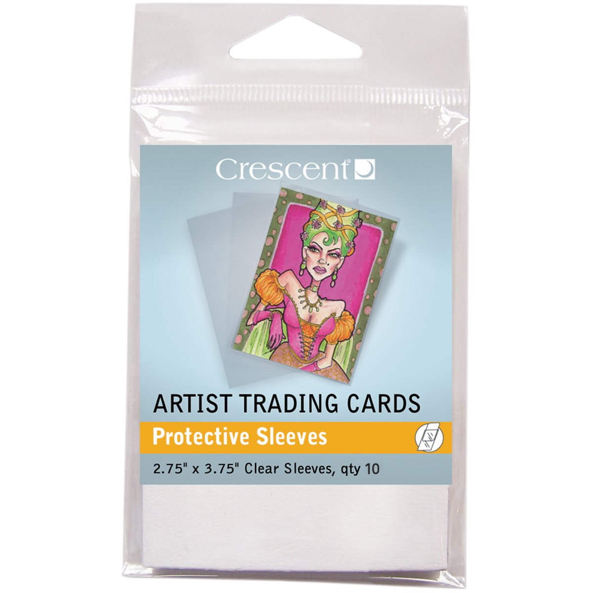 Crescent Protective Sleeves for Artist Trading Cards, Pack of 10 by Crescent Cardboard Co