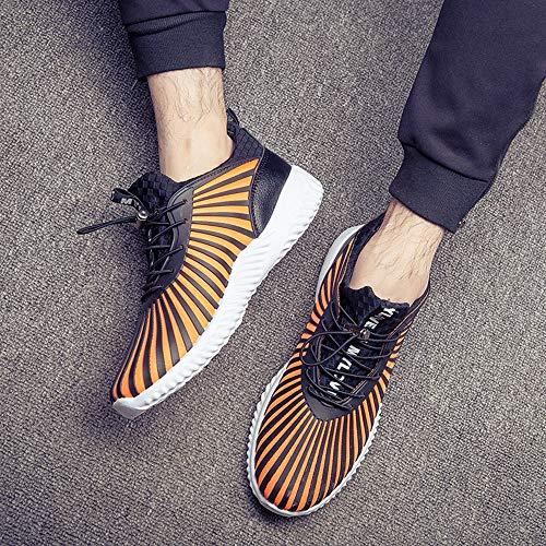 Osyard Fitness Tennis Jogging De Sport Athlétique Running Femme Basket Shoes Orange Chaussures Courtes Mesh Respirantes Sneakers TUrwfqTH