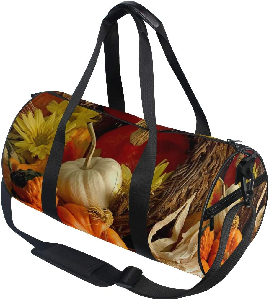 OuLian Duffel Bag Sunflowers Quotes Monday Women Garment Gym Tote Bag Best Sports Bag for Boys