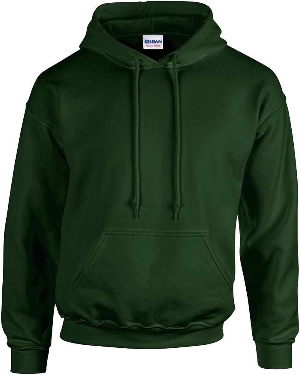 Gildan Youth Heavy Blend 8 oz 50//50 Cotton Poly Long Sleeves Hoody G185B XS-XL