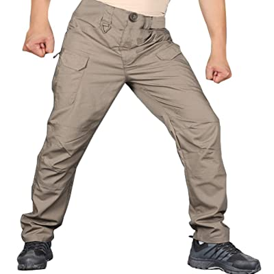 Men's Tactical Cargo Pants Quick Dry Convertible Hiking Pants with 7 Pockets, Lightweight and Water Resistant: Clothing