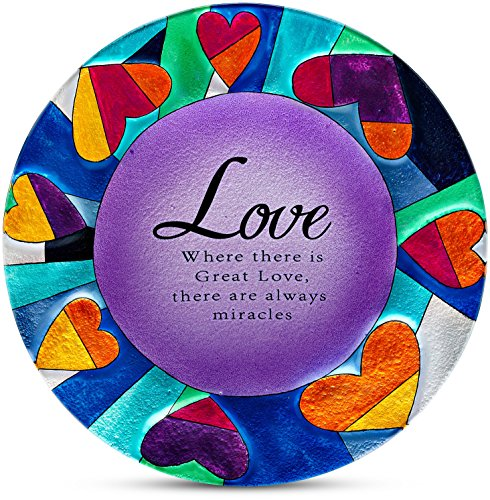 Shine on Me by Pavilion Glass Plate, Love Sentiment, 12-Inch