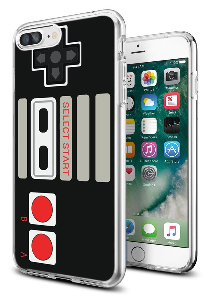 I8 Plus Case Game,I7 Plus Case Game,Gifun [Anti-Slide] and [Drop Protection] Soft TPU Premium Protective Case for iPhone 8 Plus/for iPhone 7 Plus - Retro Arcade Game