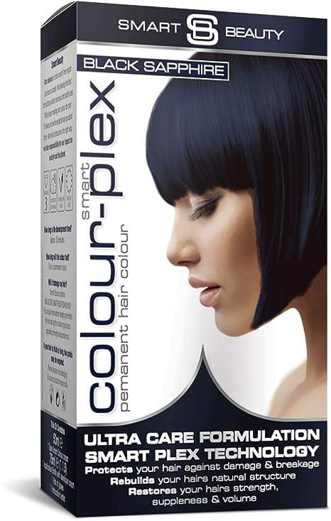 Smart Beauty Tinte de Pelo Permanente, Larga Duración Moda Color con Nutritivo Nio-Active Plex Tratamiento Capilar, 150ML - Zafiro Negro, 150 ...