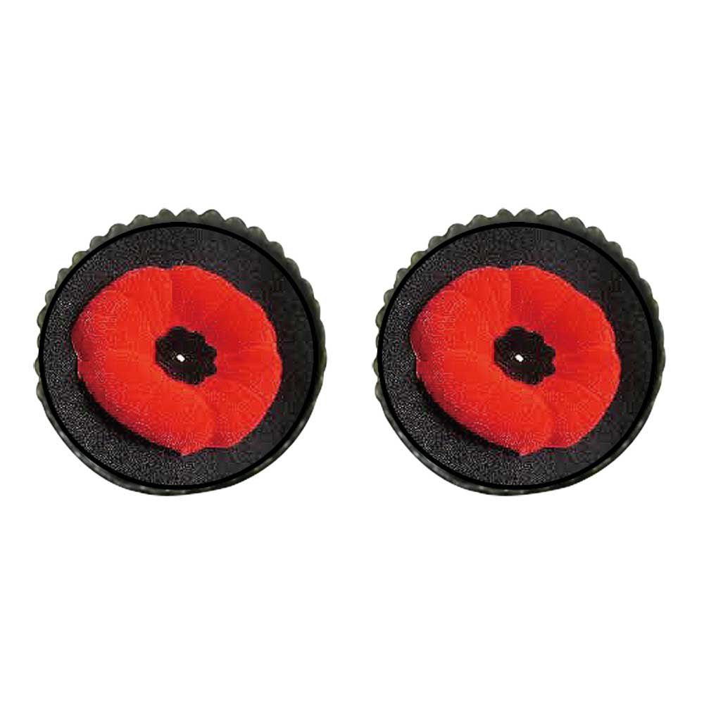 GiftJewelryShop Bronze Retro Style Poppy Memorial Remembrance Day Photo Stud Earrings 10mm Diameter