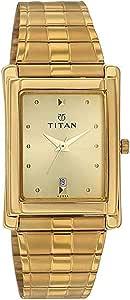 تيتان ساعة رسمية رجال انالوج بعقارب معدن - 9154YM02