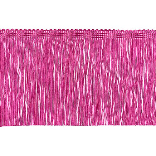 Fuchsia Flapper Dress (Decorative Trimmings 100% Rayon Chainette Fringe, 6