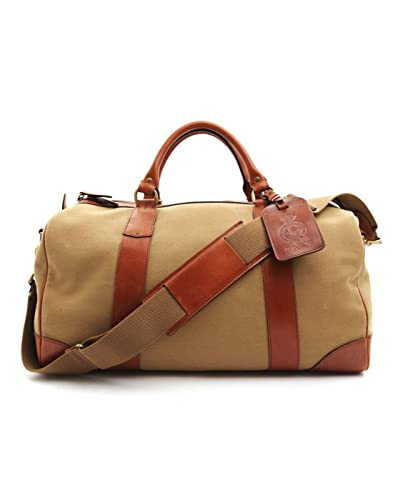 2c956ef505 POLO Ralph Lauren - Overnight Bags - Men - Beige leather and canvas weekend  bag -
