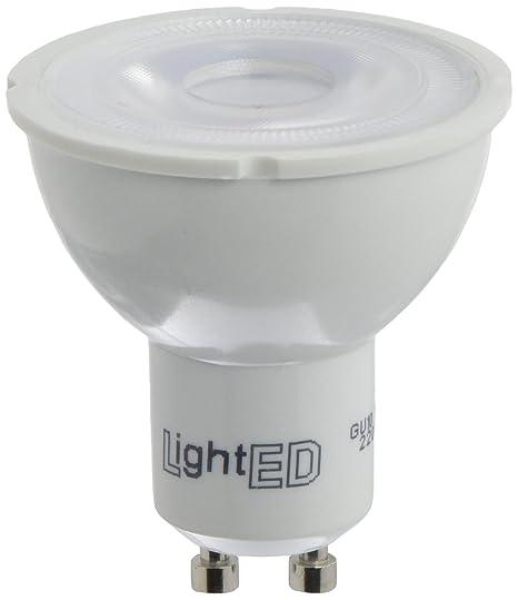 LightED Bombilla LED, 5000 K GU10, 7 W, Blanco, 50 x 55 mm
