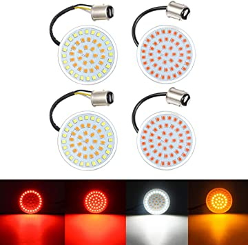 4 x Turn Signal Indicator Light Lamp for Motorcycle Chrome Roadster Sportster