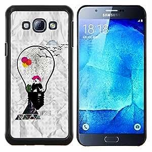 EJOOY---Cubierta de la caja de protección para la piel dura ** Samsung Galaxy A8 A8000 ** --Hipster Panda