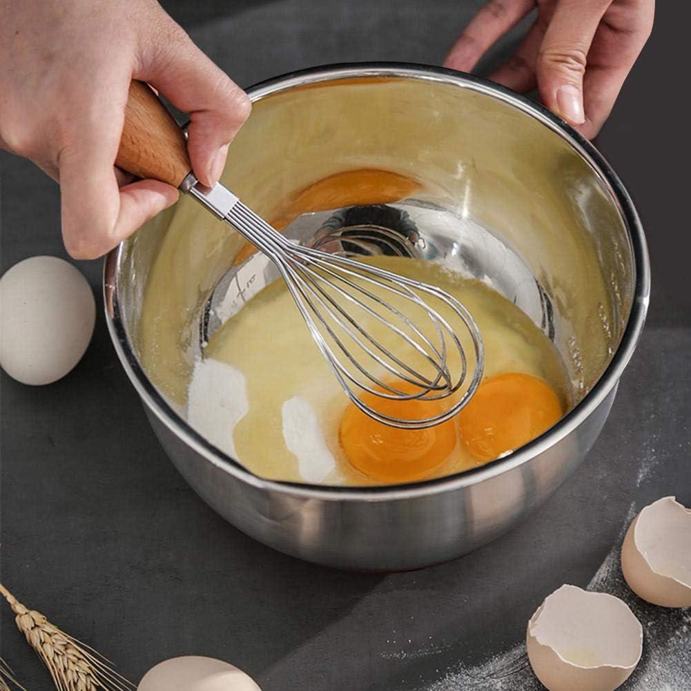 impilabili Chifans Set di Ciotole in Acciaio Inox con Coperchio per Cucinare in Cucina
