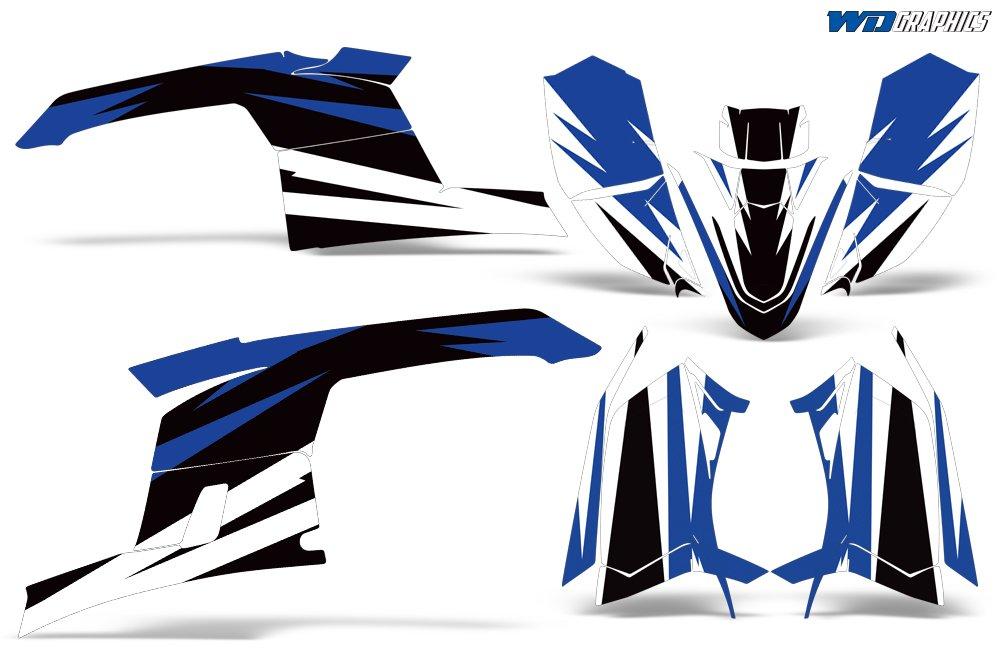 Wholesale Declas Polaris Trailblazer 330 2010-2013 Full ATV Graphics Decal Kit Midnight Race Design