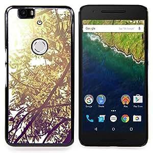"""For Huawei Google Nexus 6P , S-type Planta Naturaleza Forrest Flor 57"""" - Arte & diseño plástico duro Fundas Cover Cubre Hard Case Cover"""