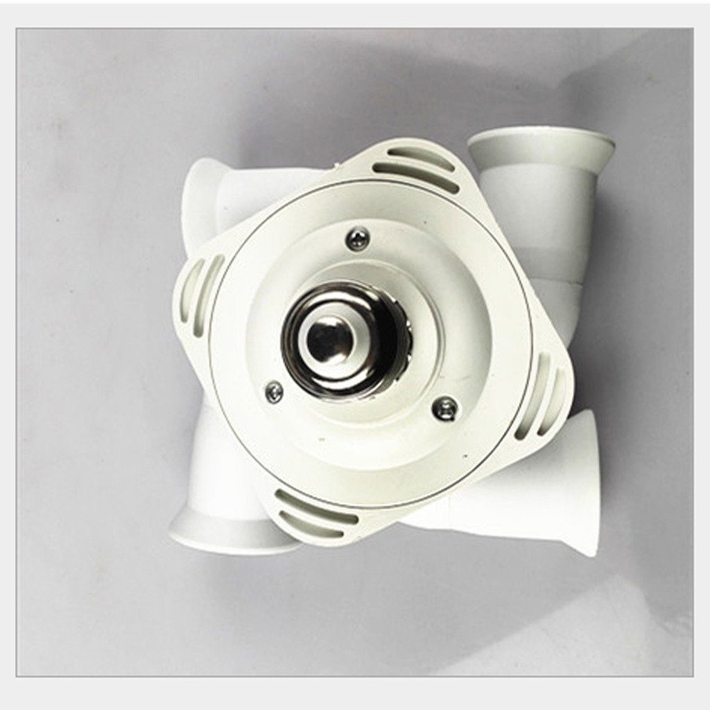 EHAO Bulb Splitter 5 Adaptateur de prise de lumi/ère 5 en 1 E27 /à E26 E27 Ampoule standard convertie avec 360 degr/és r/églable 180 degr/és pliage blanc