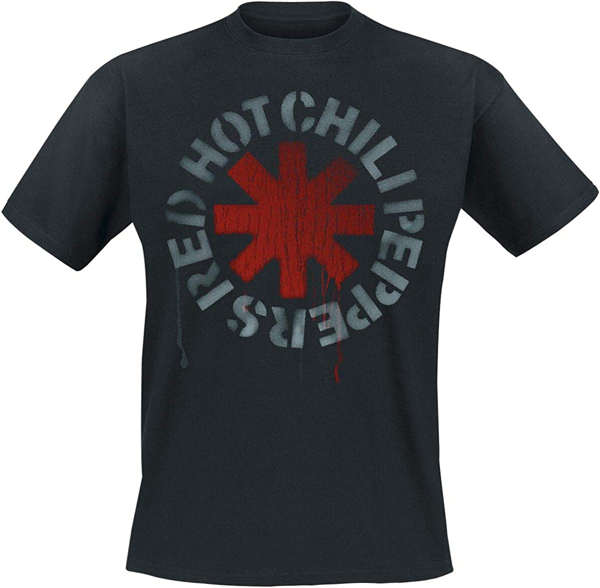Camiseta Estampada Red Chili Peppers con Logo Negro, para Hombre