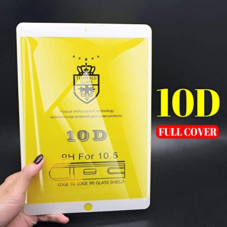 b9d04dbcd0e82 Amazon.com: 2 Pack 【10D Full Cover】 ipad10.5 Screen Protector Commpatible  with Apple ipad pro 10.5