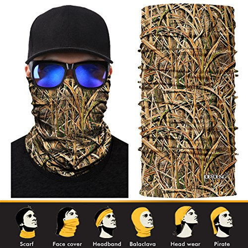 3D Face Sun Mask, Headwear, Neck Gaiter, Magic Scarf, Balaclava, Bandana, Headband...