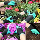 4 Pairs Garden Gloves With Fingertips Claws,Best