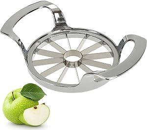 Hedume Apple Slicer, 12-Blade Extra Large Apple Corer, Stainless Steel Easy Grip Fruit Slicer with Sharp Blade for Apples, Pears, Orange and More
