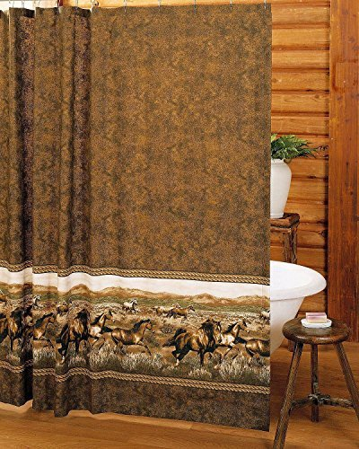- Karin Maki Unisex Wild Horses Shower Curtain Brown One Size