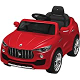 Costzon 6V Licensed Maserati Kids Ride On Car Opening Doors with Parental Remote Control, Swing Function (Red)