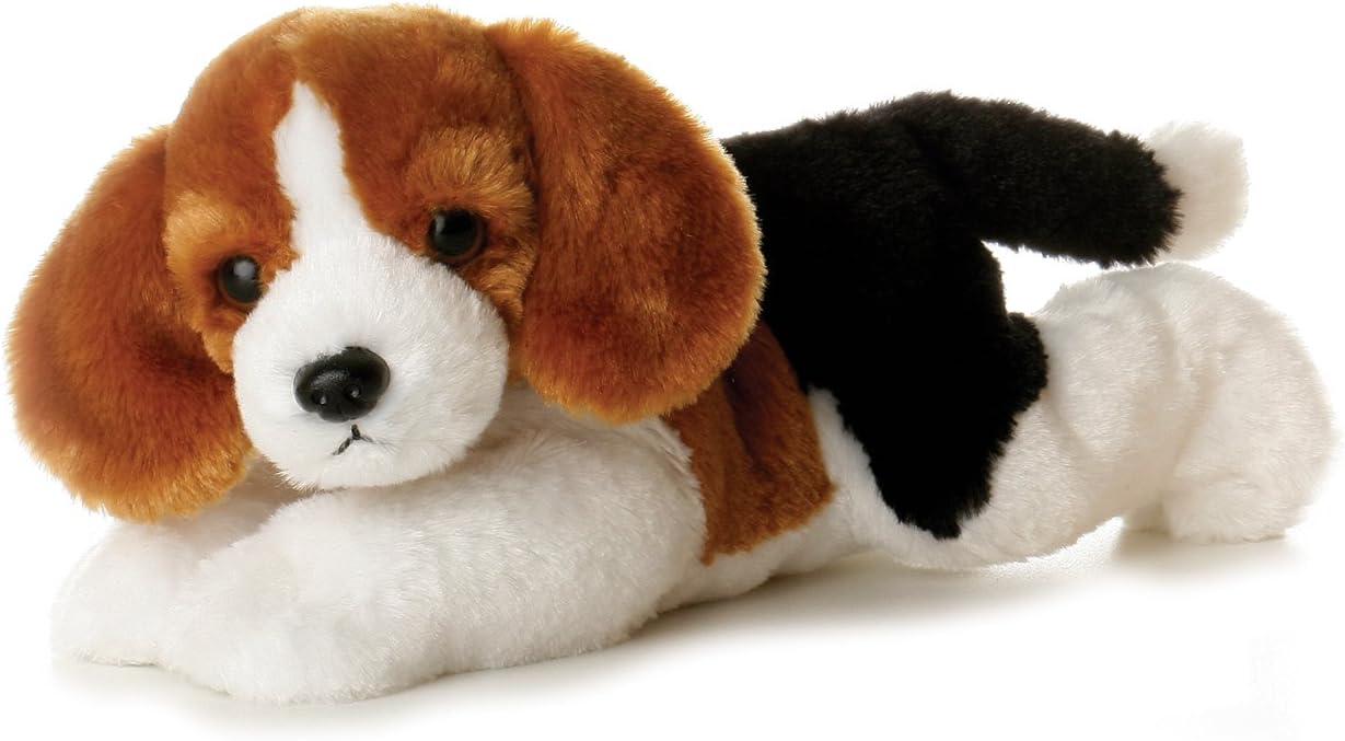 Aurora World - Perro Beagle Homer de Peluche Flopsies, 20 cm