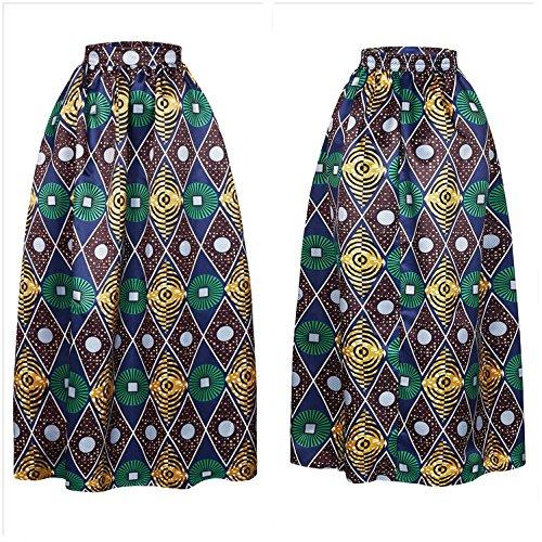 Femmes Une Multisize Imprim Afibi Maxi Jupe Dcontracte 4 Africain Jupe vas Jupe S 3XL Modle Ligne Hdq1dzxw