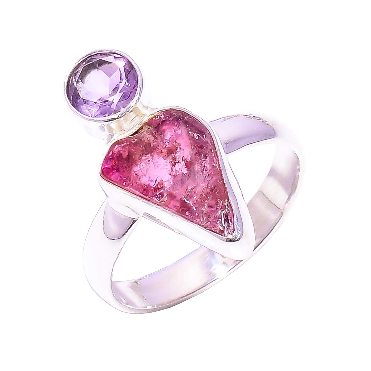 Natural Amethyst Gemstone Rings 925 Sterling Silver Handmade Adjustable-Angel/'s Wing Ring-Gift for her,Valentine gift,Anniversary ring